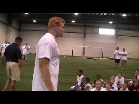 Coach John Rodenberg at Rocky Boiman Football Camp