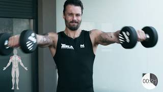 Tesla Nutrition / Dumbbell - kettlebell SHOULDER workout at home ⚡️
