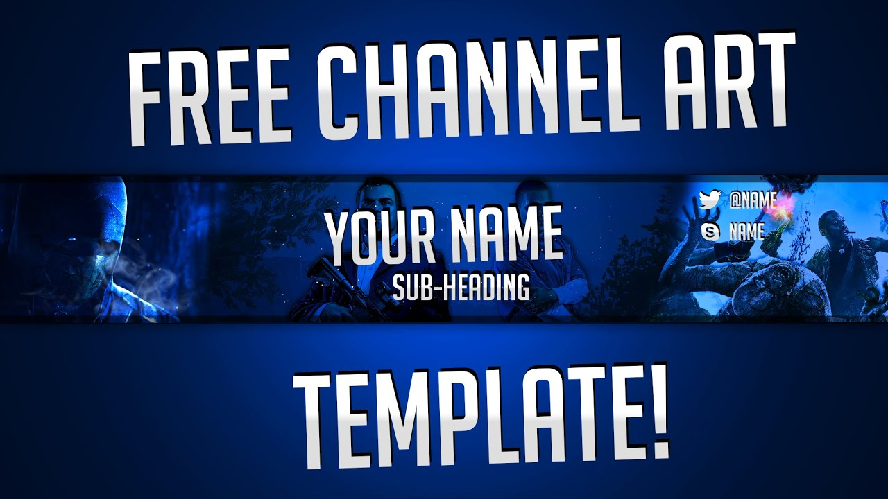 Free Gaming Channel Art//Banner Template By Ryzeus Graphics - YouTube