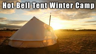 Windy Winter Hot Tent Camping