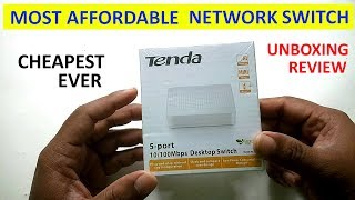 Tenda S105 Network Switch Unboxing & Review | Most affordable Network Switch