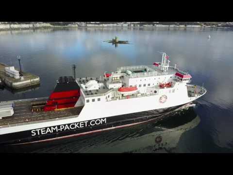 Isle Of Man Steam Packet Ben-My-Chree Leaving Douglas