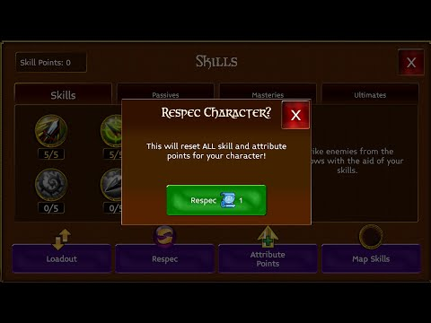 THE BEST WAY TO USE RESPEC SCROLL|ARCANE LEGENDS |ROGUE | HOW TO USE SKILL POINTS|HOW TO BUILD ROGUE