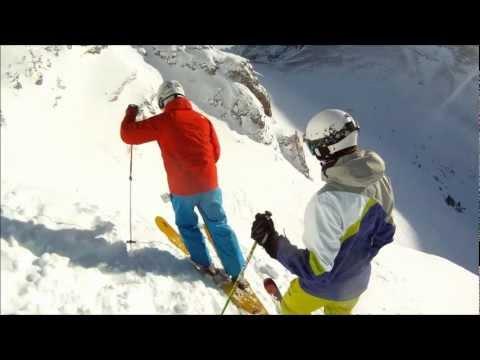 Snow Skiing Sunshine Village Banff, Alberta December 2012 with GoPro Hero