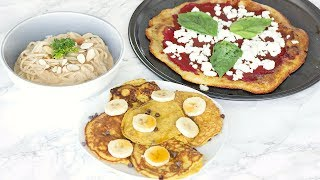 HEALTHY COMFORT FOOD! EASY AND YUMMY PANCAKES, PIZZA & PASTA!