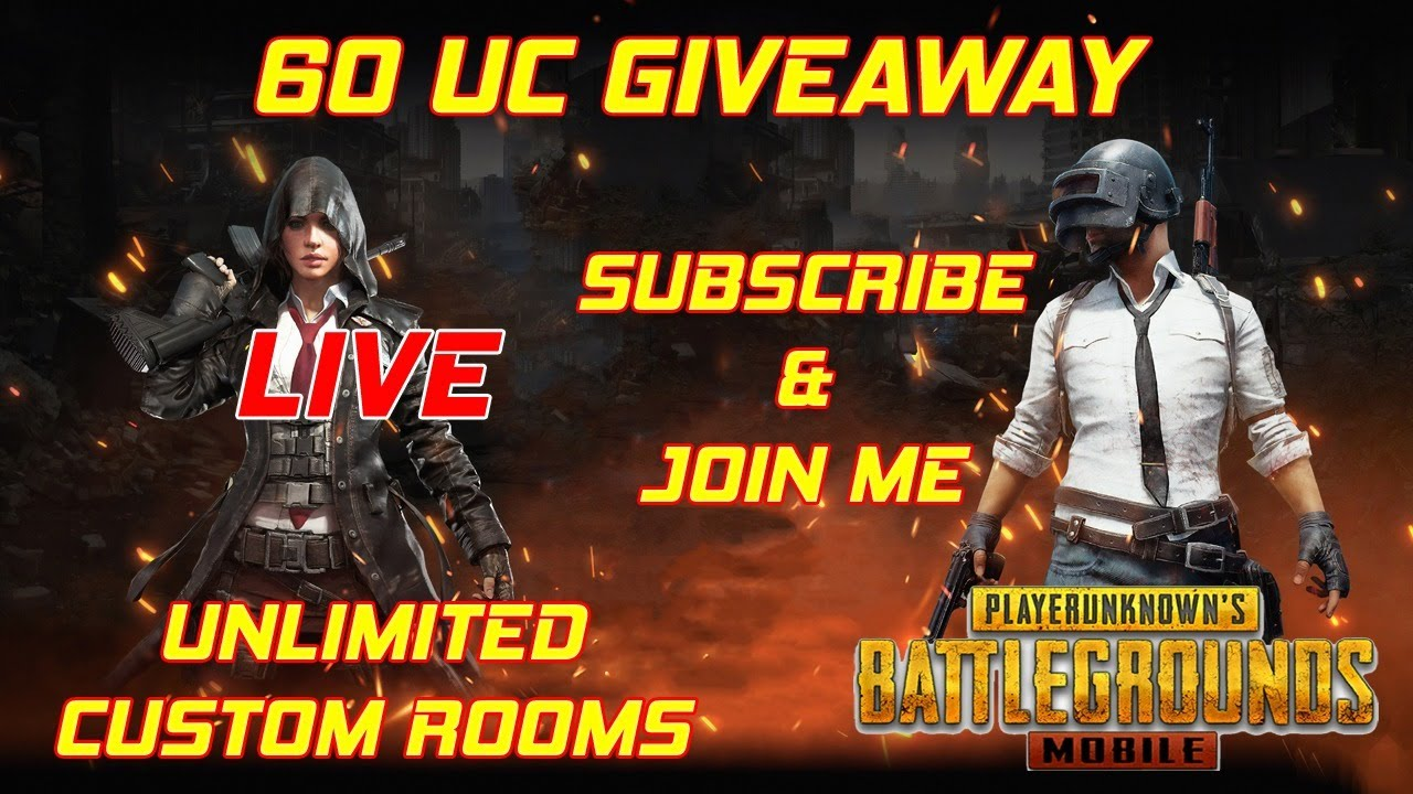 60 UC GIVEAWAY | CUSTOM ROOMS STREAM | PUBG MOBILE LIVE | SUBSCRIBE & PARTICIPATE