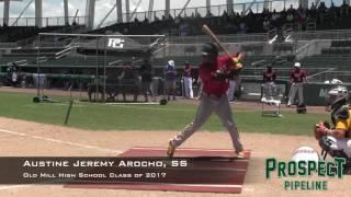 Austine Jeremy Arocho Prospect Video,, SS, Old Mill High School class of 2017