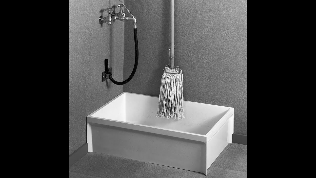 how to install a mop sink