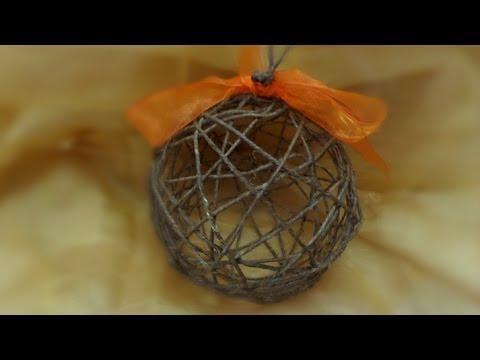 Decorazioni Natalizie Youtube.Diy Tutorial Decorazioni Natalizie Pallina Albero Di Natale Fatta
