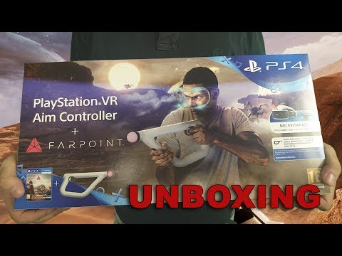 UNBOXING Playstation VR Aim Controller + Farpoint VR_JUEGOS