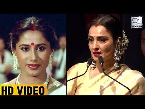 Rekha Gets Very Emotional Talking About Smita Patil | LehrenTV