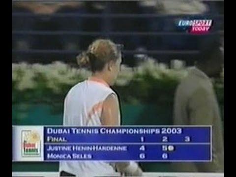 Dubai 2003 Finale - Seles vs Henin part 1
