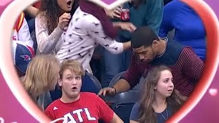 Fan DROPS Ring During Atlanta Hawks Kiss Cam Marriage Proposal - But Was it Fake?