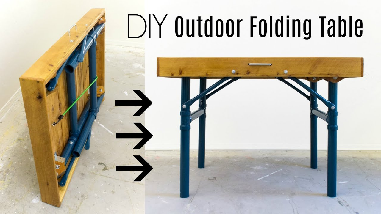 Outdoor Folding Table How To Build Youtube