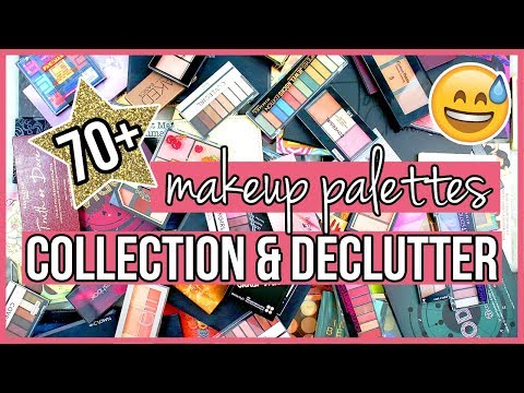Getting Rid of HALF my Makeup Palettes | Makeup Declutter 2019 thumbnail