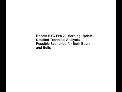 Bitcoin BTC Feb 20 Morning Update - Detailed Technical Analysis