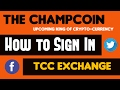 How to Sign in   The Champcoin Exchange   Thechampcoin apk में log in कैसे करे !