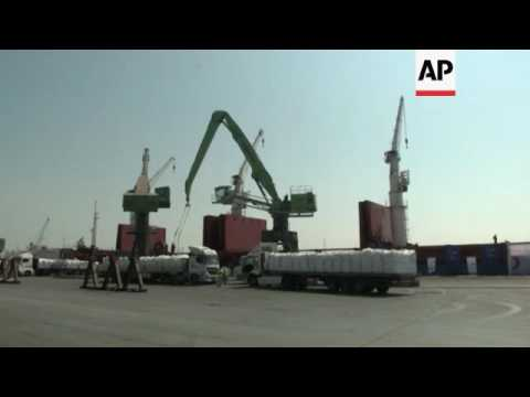 Ship in Turkey port loaded with aid for Gaza