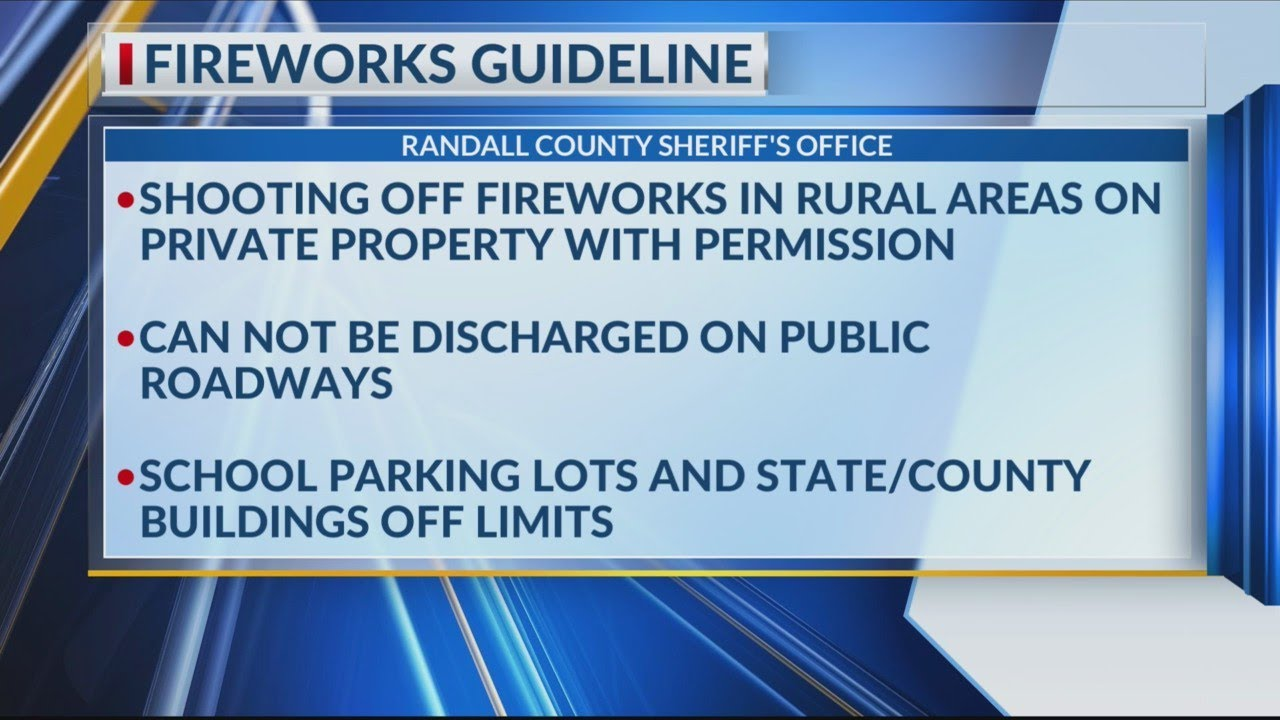 Randall County Sheriff's Department: Fireworks guidelines