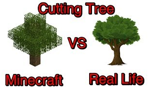 Minecraft vs Real Life: Part 6 - Cutting Tree.