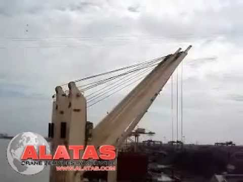 NMF Ship crane luffing synchronisation carried out by Alatas crane engineers