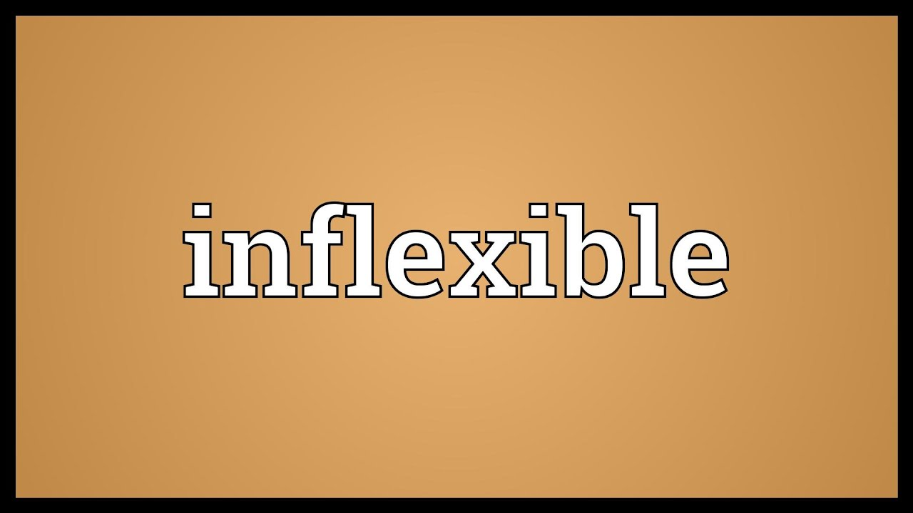 inflexible. inflexible meaning