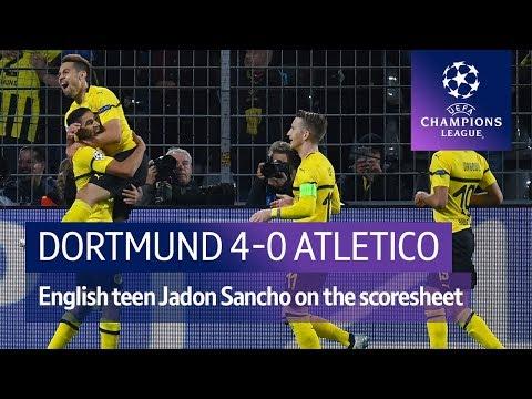 Dortmund vs Atletico Madrid (4-0) UEFA Champions League highlights