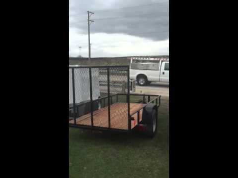 5x10 angle iron open utility trailer at Wild Bill's