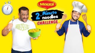 2 MINUTE MAGGI NOODLES CHALLENGE | Maggi Noodles Making Challenge | Viwa Food World