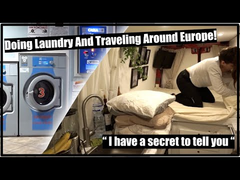 DOING MY LAUNDRY   SELF SERVICE MACHINE IN ITALY
