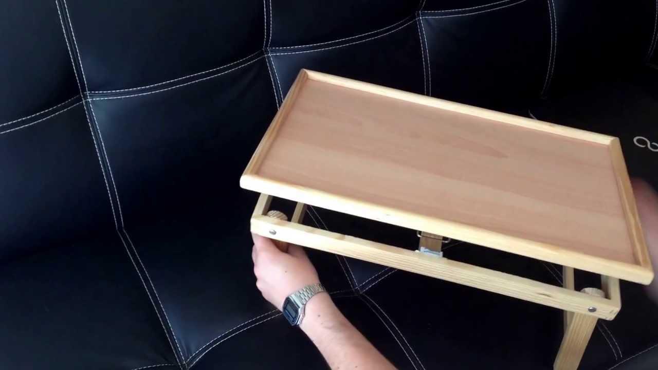 Tavolino notebook vassoio in legno per pc tavolo - Tavolo pieghevole fai da te ...