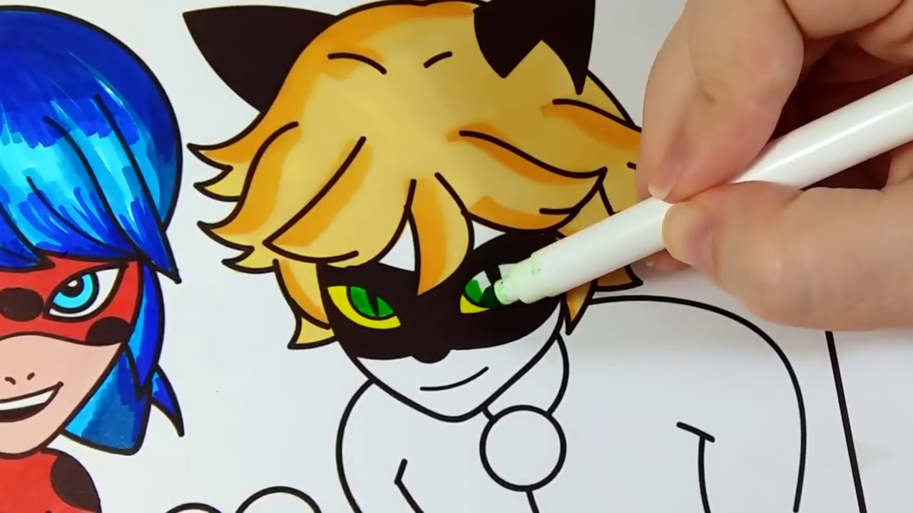 Miraculous Ladybug E Cat Noir Jogos De Pintar Dese Youtube