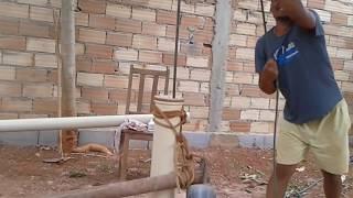 Poço artesiano .Como Colocar o cano
