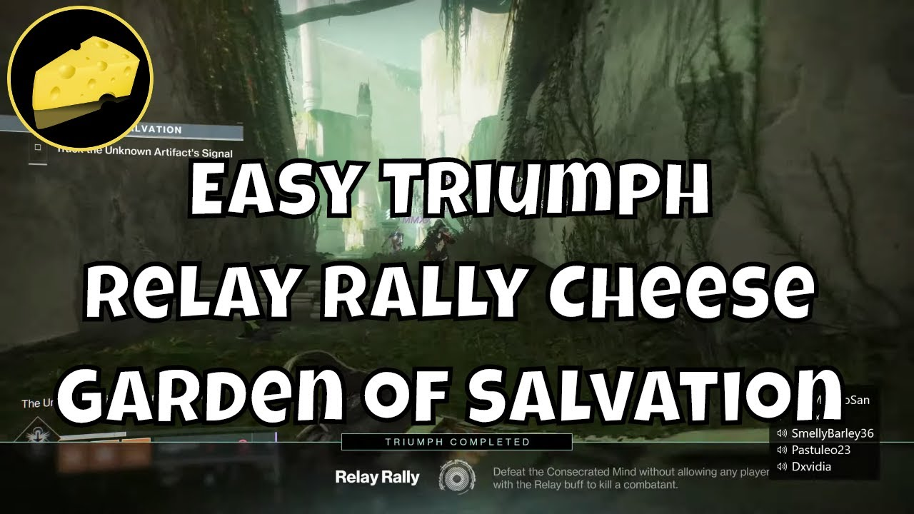 Easy Relay Rally Triumph Cheese - Enlightened Title - Garden of Salvation GoS Glitch