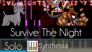 Survive the Night - MandoPony - |SOLO PIANO TUTORIAL w/LYRICS| -- Synthesia HD
