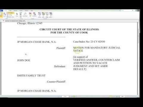 Enforcing A4V:  Petition for Mandatory Judicial Notice