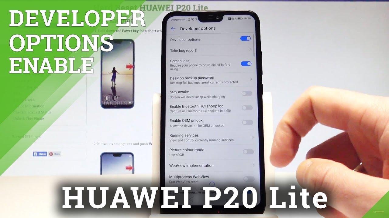 How to Enter Developer Options in HUAWEI P20 Lite - USB Debugging & OEM  Unlocking |HardReset Info