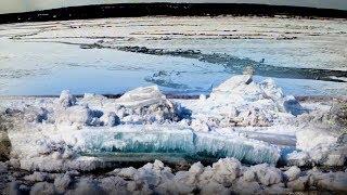 Ice drift began- 2018-flood - Ice started