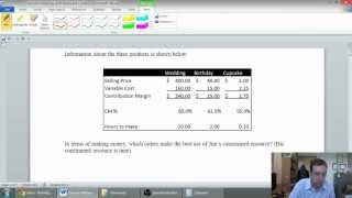 Part 6 - Relevant Costs for Decision Making - Constrained Resource