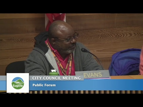 Eugene City Council Meeting: October 9, 2017