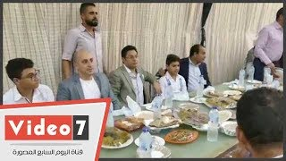 فيديو  خالد أبو بكر يقيم حفل إفطاره السنوى بقرية سرسنا