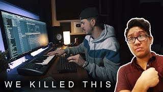 MAKING A BEAT WITH SIMON SERVIDA! *we absolutely killed this*