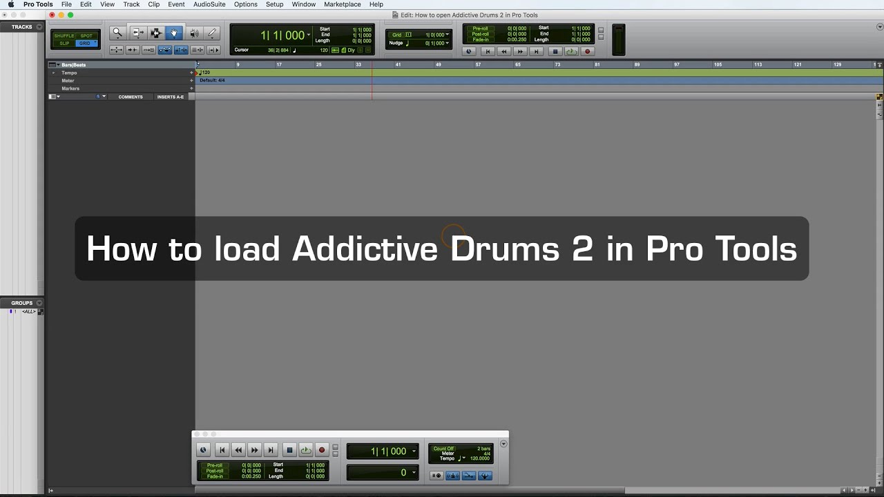 How to load Addictive Drums 2 in Pro Tools