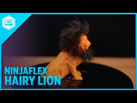 3D Printing a NinjaFlex Hairy Lion - Timelapse Tuesday