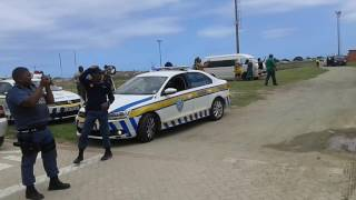 Cyril Ramaphosa lands in George