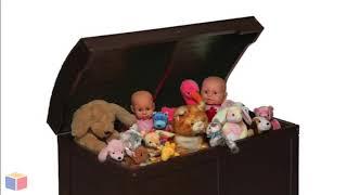 Barrel Top Toy Box Chest - Espresso   Toyboxcity.com