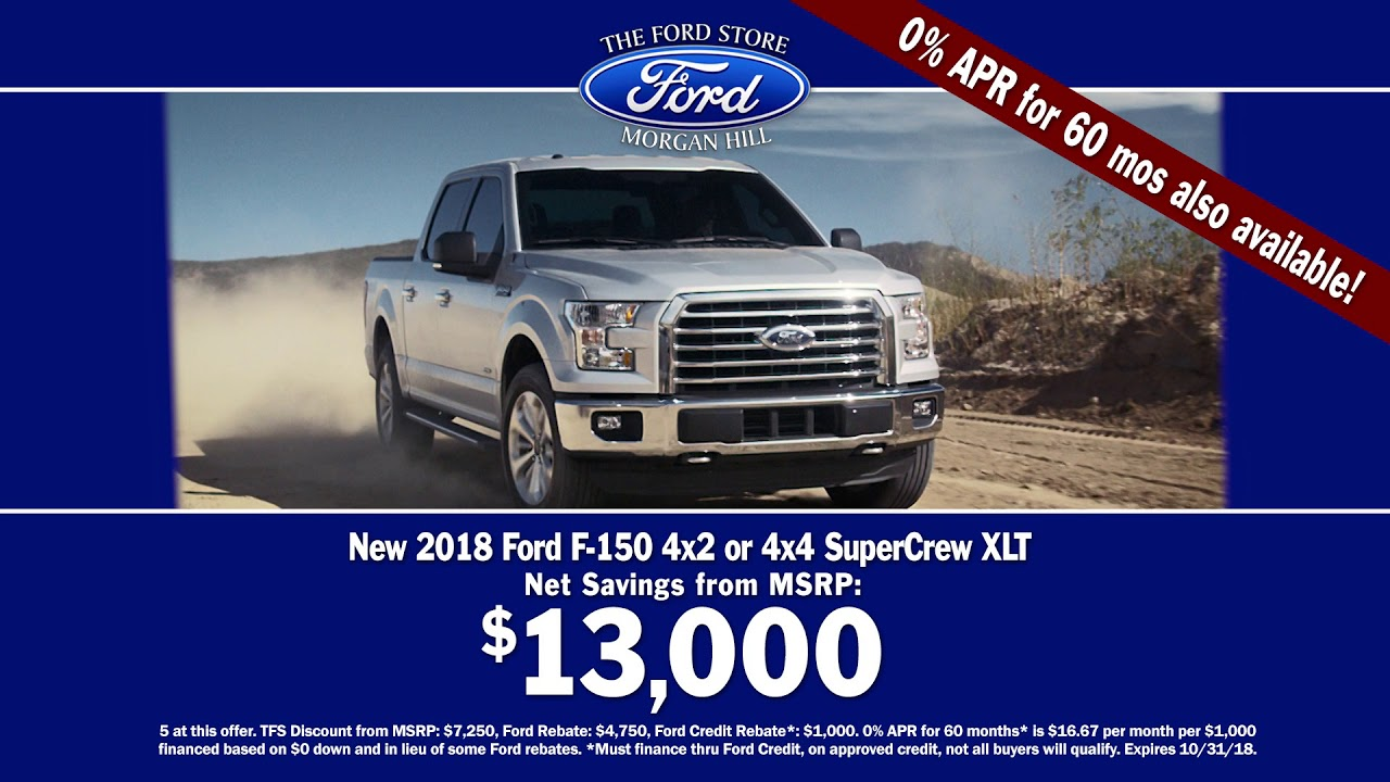 Morgan Hill Ford >> The Ford Store Morgan Hill 1 Dealer F150 2018 Youtube