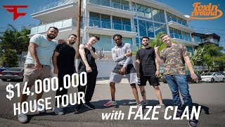 De'Aaron Fox tours FaZe Clan's new $14,000,000 Hollywood Hills Mansion