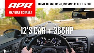 MK7 GOLF R APR STAGE 1 REVIEW | At the Dyno, Drag-strip + more!