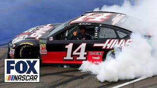 Rain-shortened race gives Clint Bowyer his second win of the year | 2018 MICHIGAN | FOX NASCAR